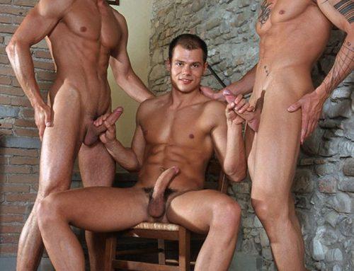 Max V, Vilem Cage & Gruppo Italian Threesome | LucasKazan